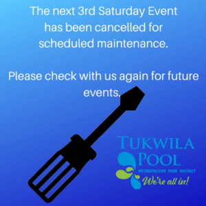 Inform that the next 3rd Saturday Event has been cancelled for scheduled maintenance