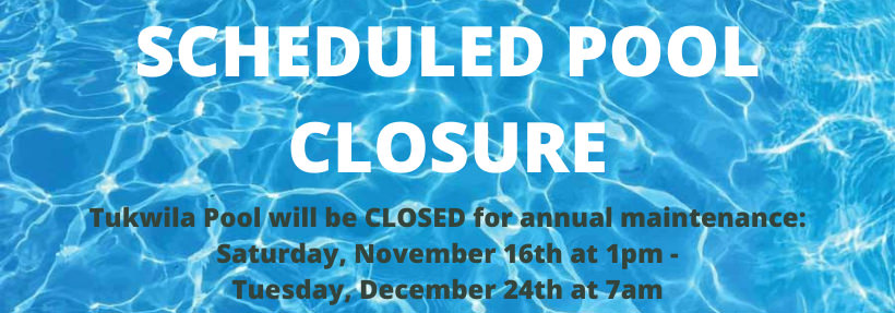 2019 SCHEDULED POOL CLOSURE